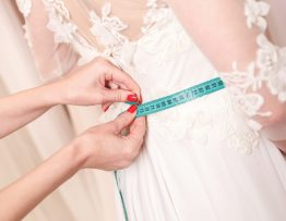 Custom fitting bridal gown
